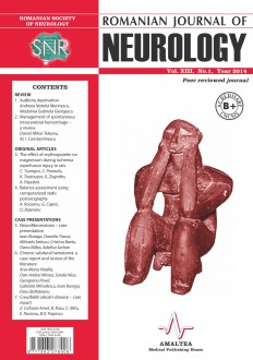 Romanian Journal of Neurology, Volume XIII, No. 1, 2014