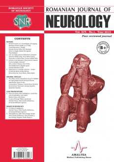 Romanian Journal of Neurology, Volume XIV, No. 1, 2015