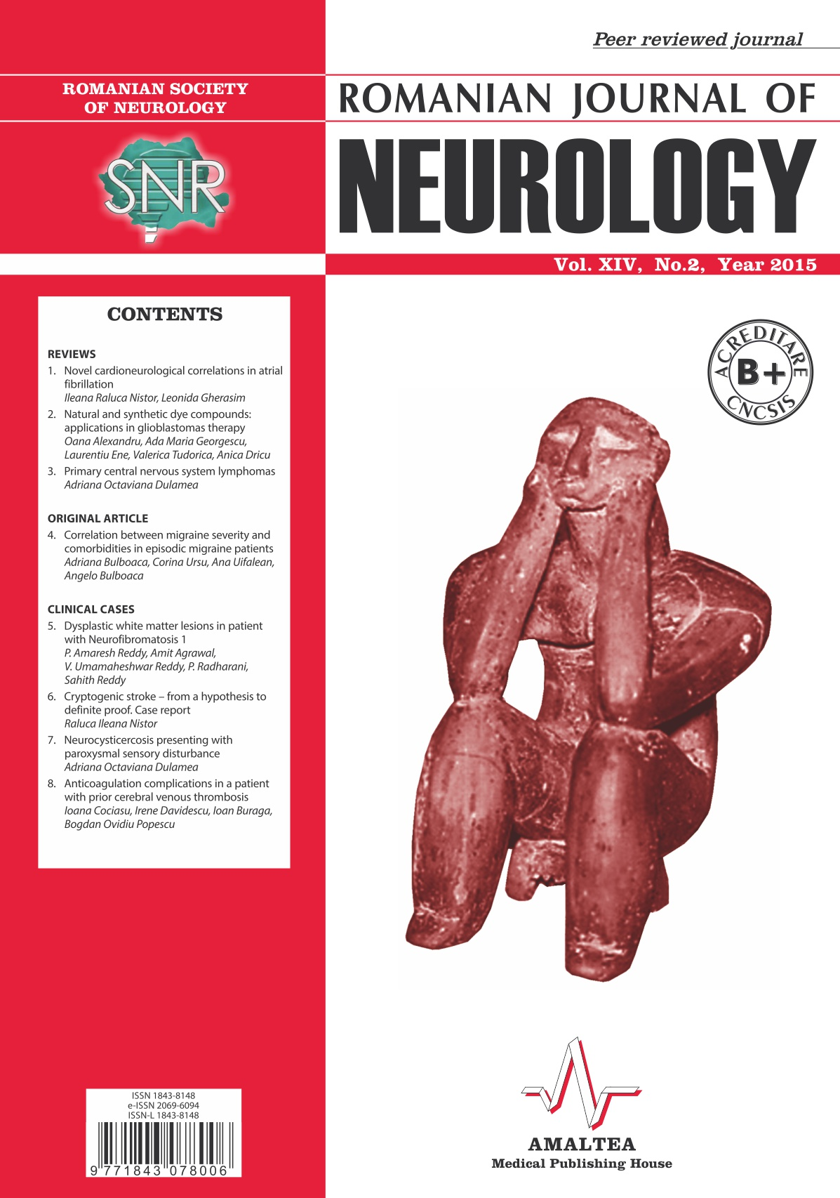 Romanian Journal of Neurology, Volume XIV, No. 2, 2015