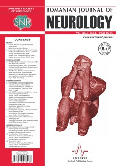 Romanian Journal of Neurology, Volume XIII, No. 4, 2014