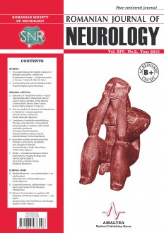 Romanian Journal of Neurology, Volume XIV, No. 3, 2015