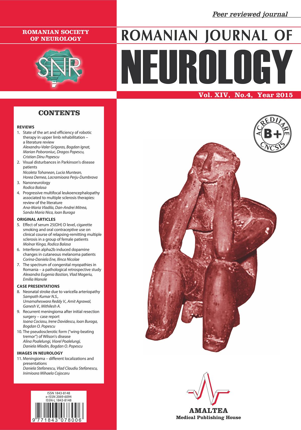 Romanian Journal of Neurology, Volume XIV, No. 4, 2015