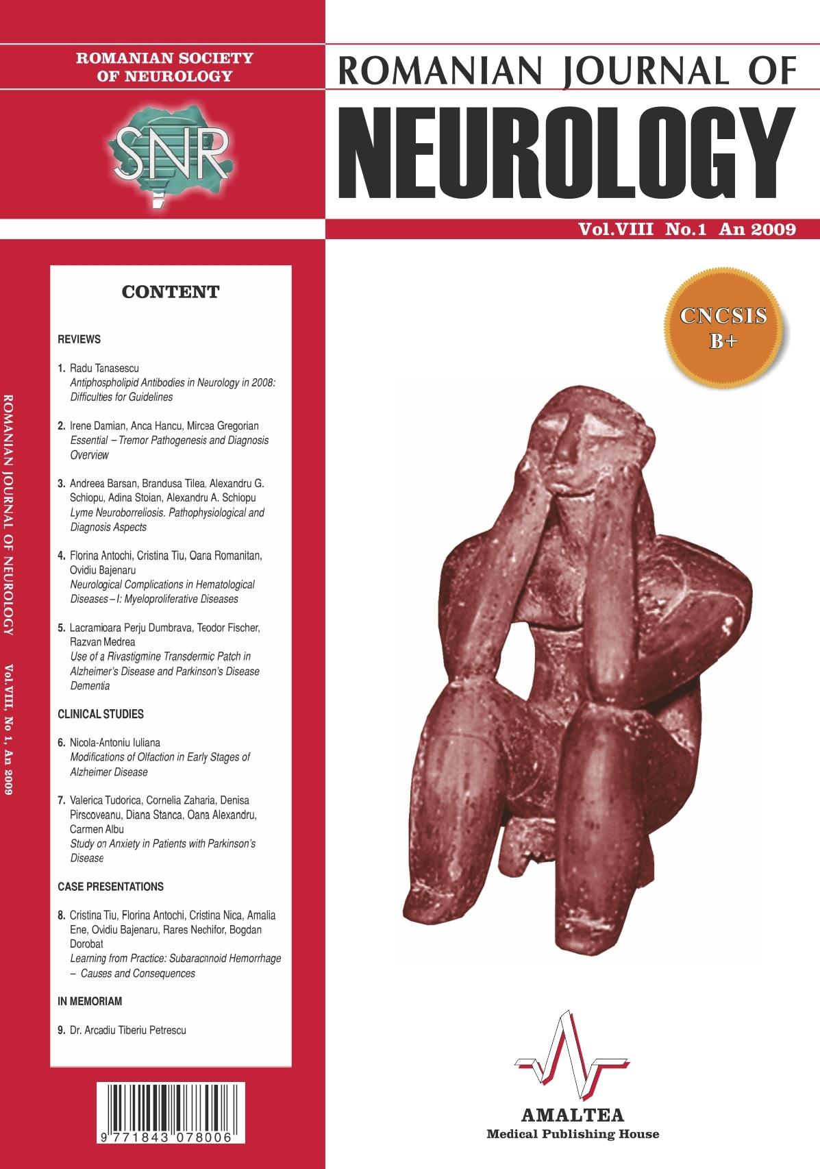 Romanian Journal of Neurology, Volume VIII, No. 1, 2009