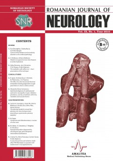 Romanian Journal of Neurology, Volume IX, No. 1, 2010