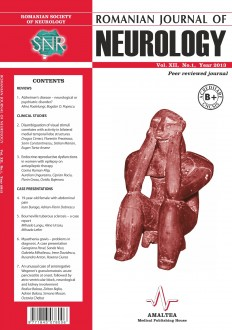 Romanian Journal of Neurology, Volume XII, No. 1, 2013