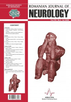 Romanian Journal of Neurology, Volume VII, No. 3, 2008