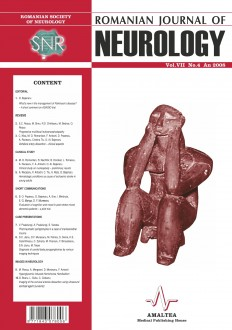 Romanian Journal of Neurology, Volume VII, No. 4, 2008
