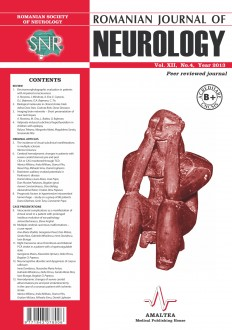 Romanian Journal of Neurology, Volume XII, No. 4, 2013