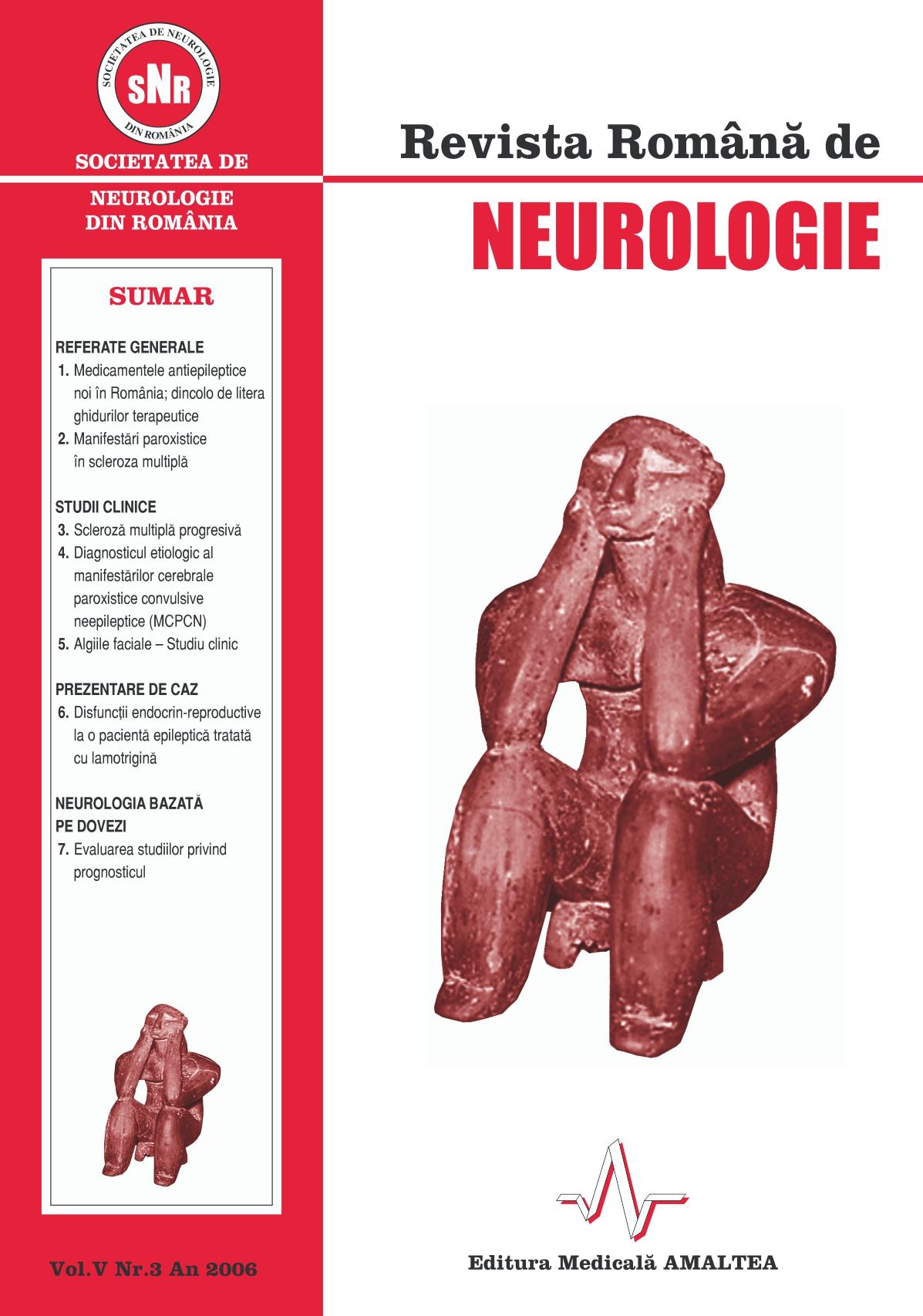 Romanian Journal of Neurology, Volume V, No. 3, 2006