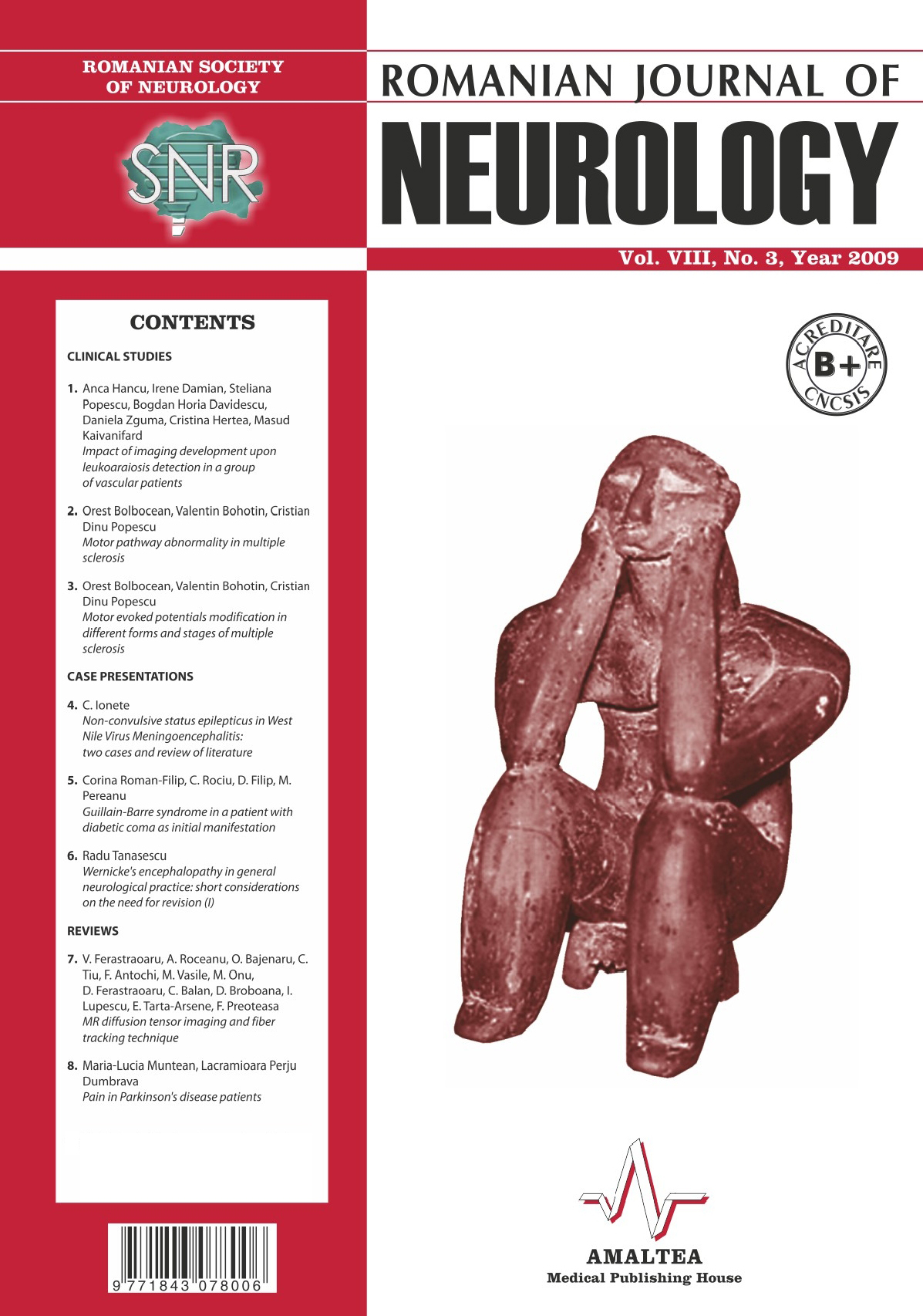 Romanian Journal of Neurology, Volume VIII, No. 3, 2009