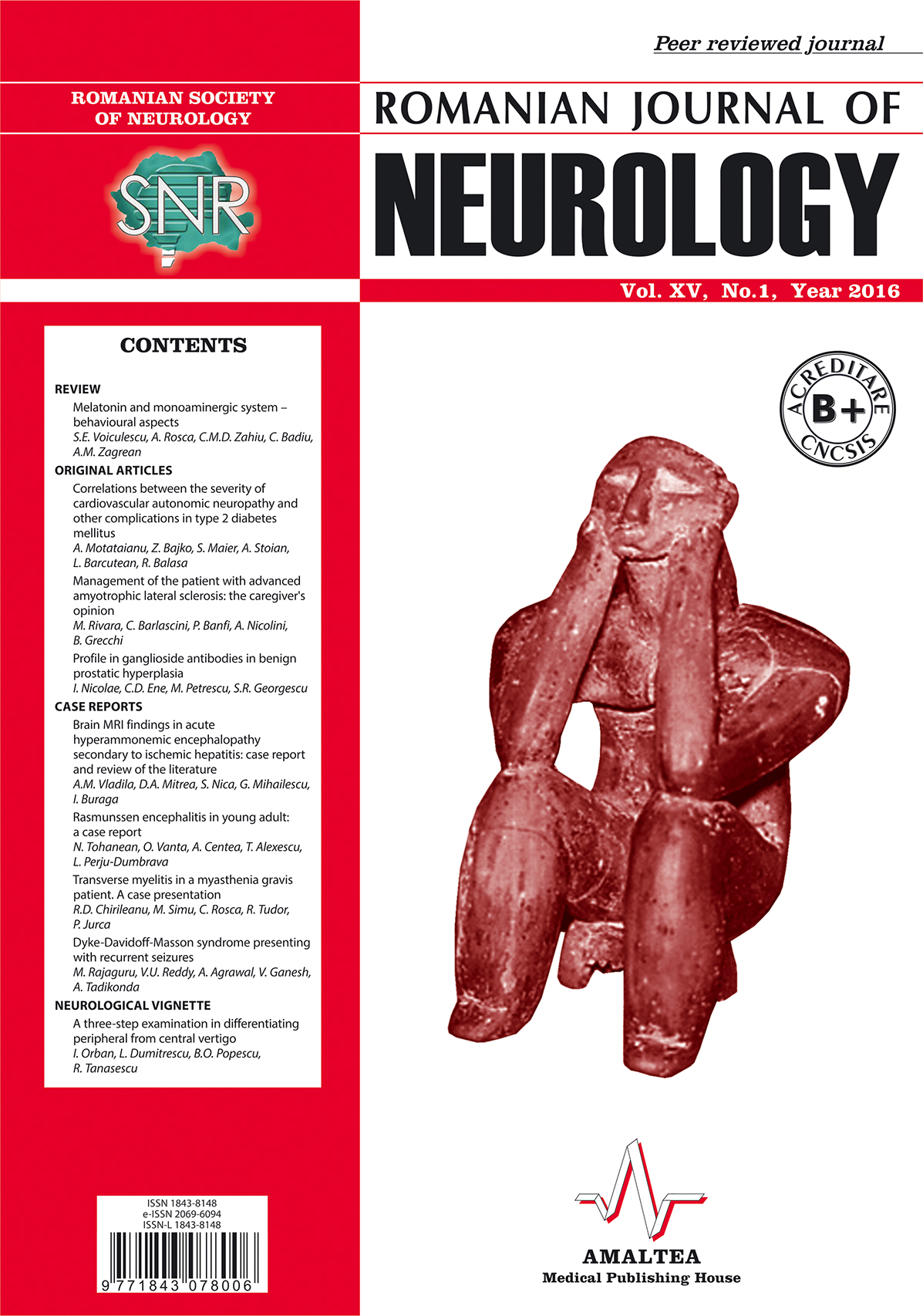 Romanian Journal of Neurology, Volume XV, No. 1, 2016