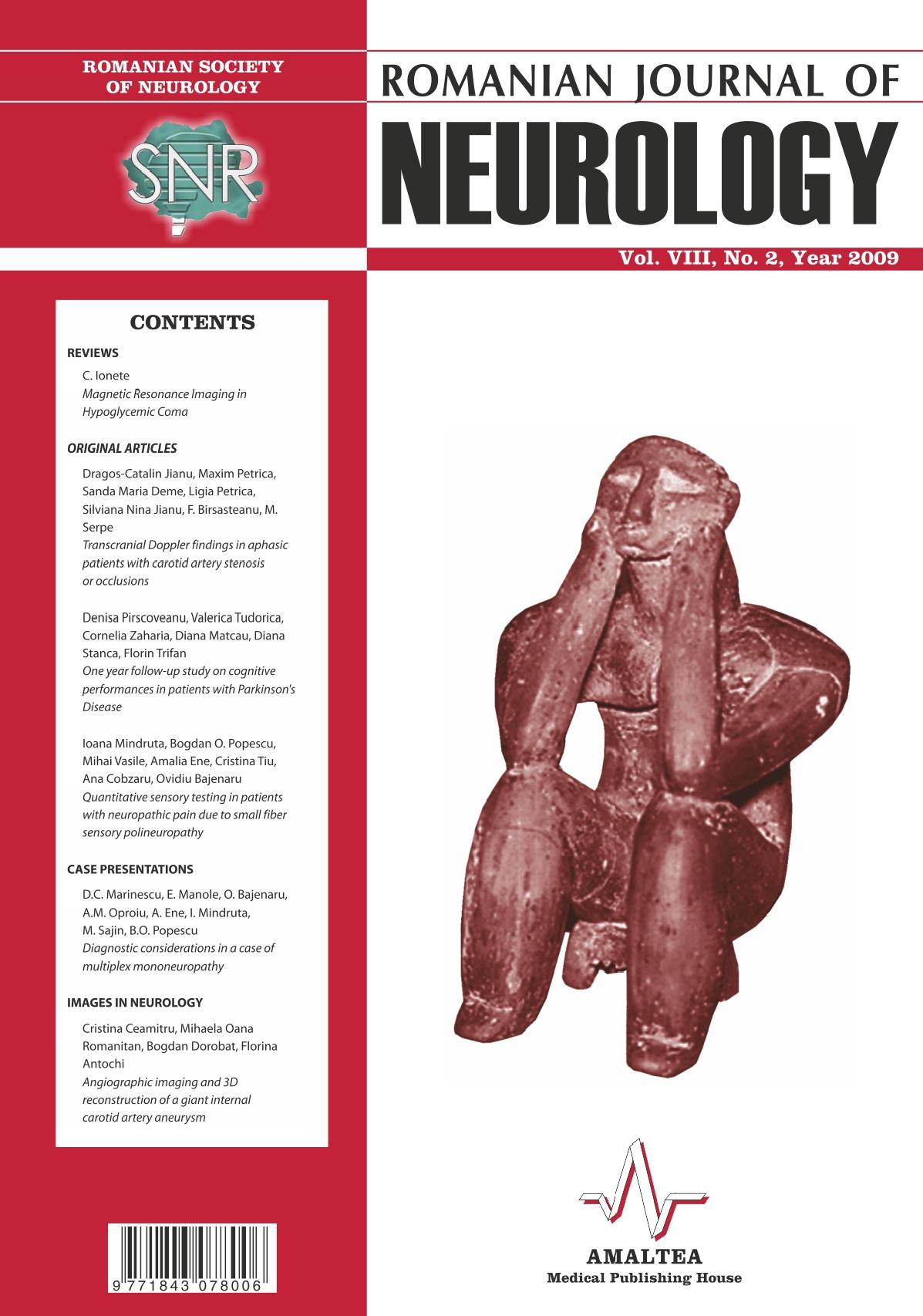 Romanian Journal of Neurology, Volume VIII, No. 2, 2009