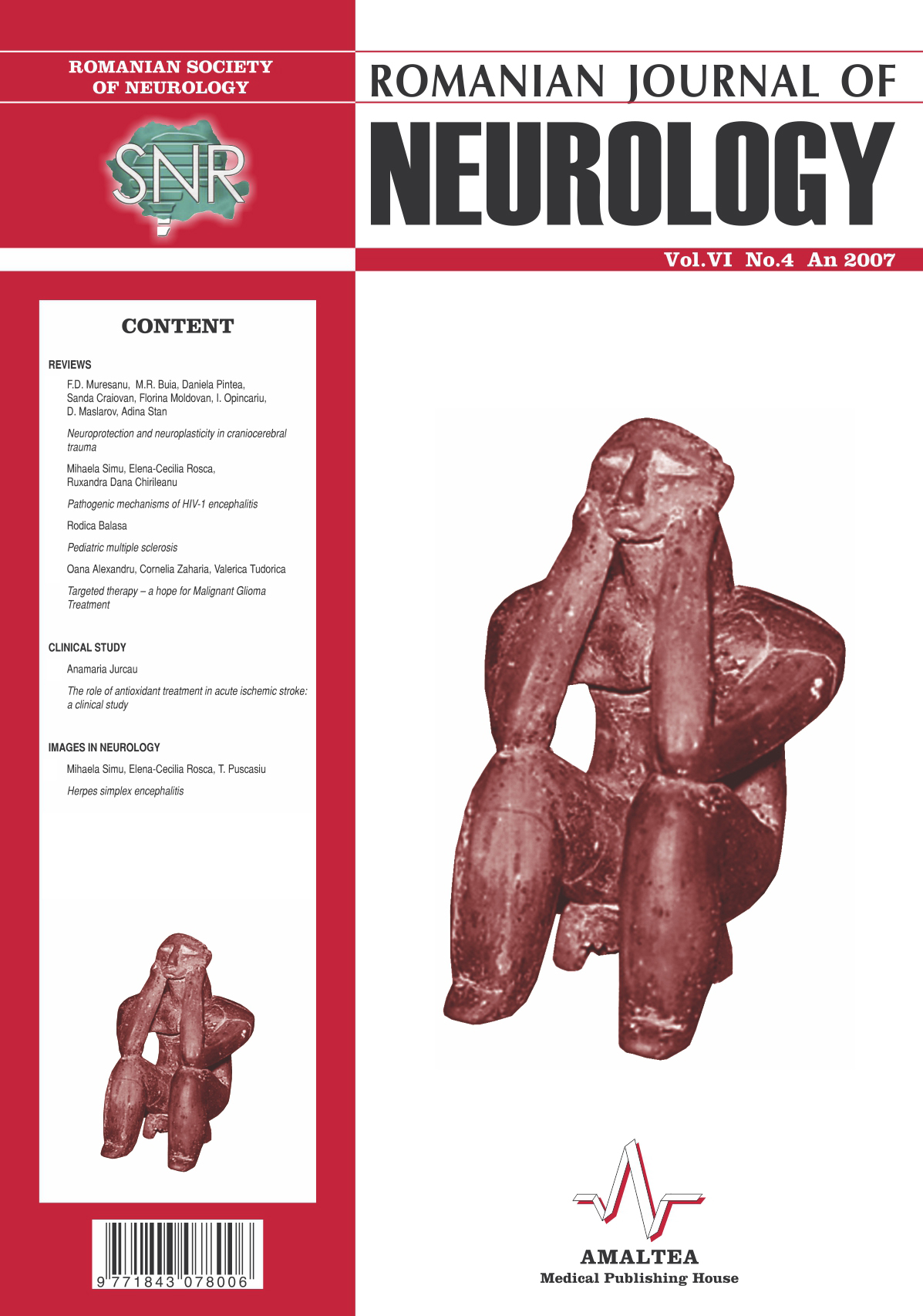 Romanian Journal of Neurology, Volume VI, No. 4, 2007