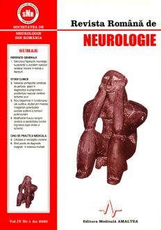 Romanian Journal of Neurology, Volume IV, No. 1, 2005