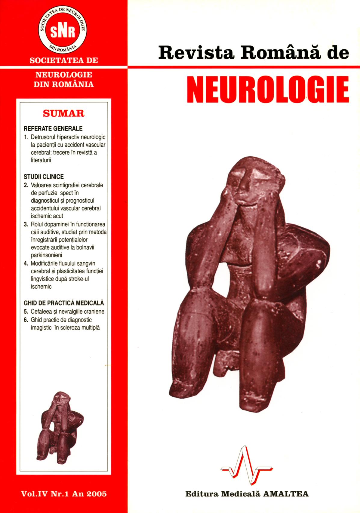 Romanian Journal of Neurology, Volume IV, No. 1, 2005