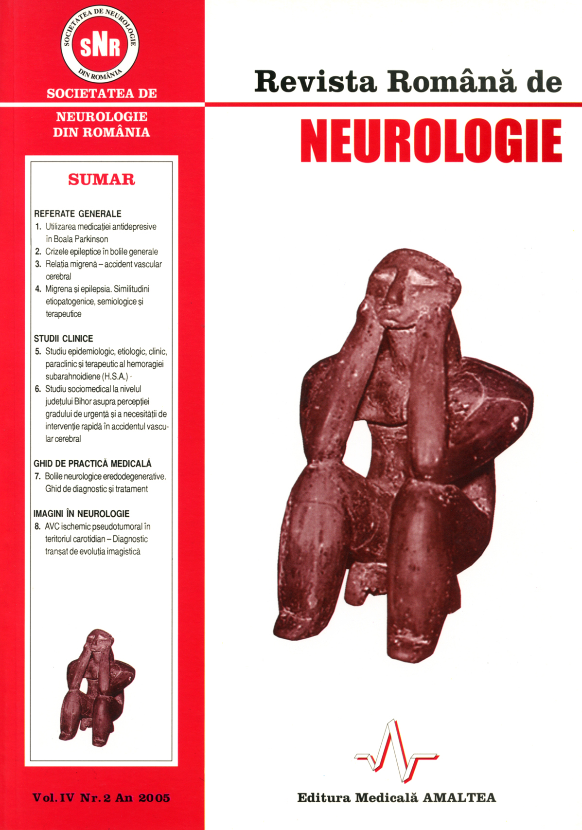 Romanian Journal of Neurology, Volume IV, No. 2, 2005