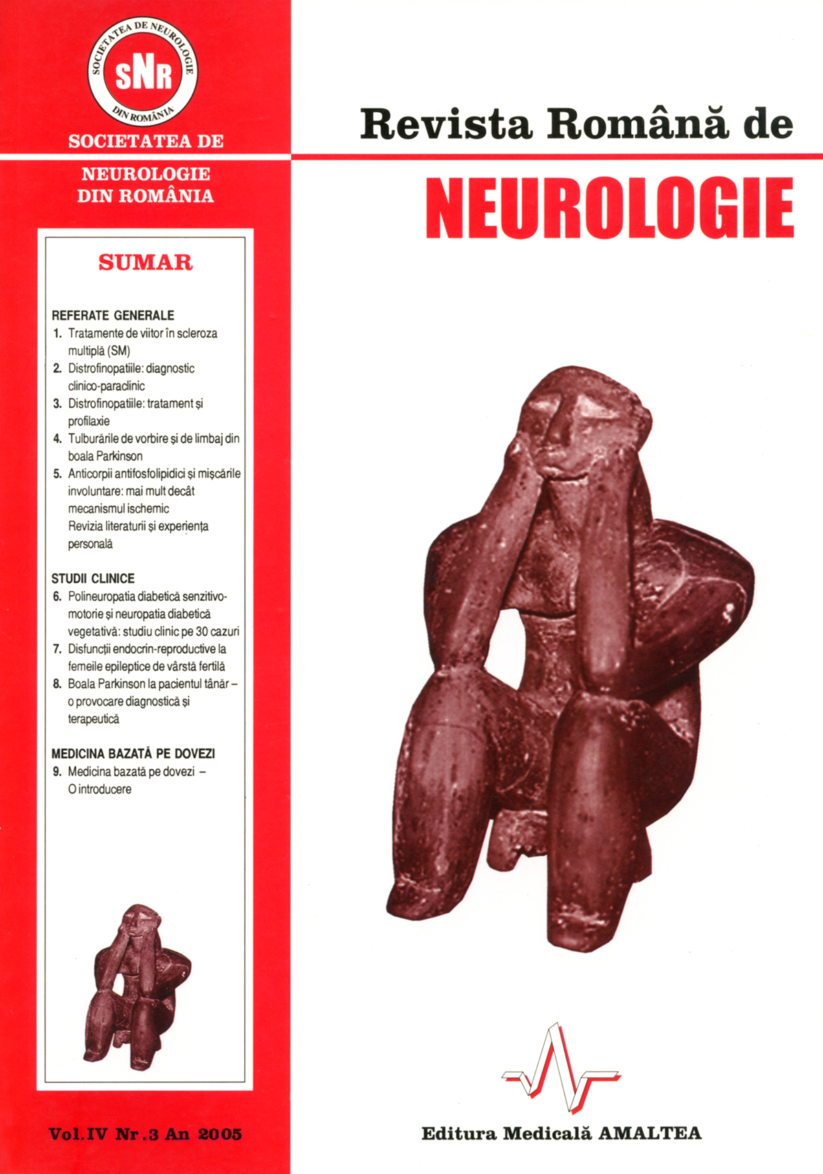 Romanian Journal of Neurology, Volume IV, No. 3, 2005