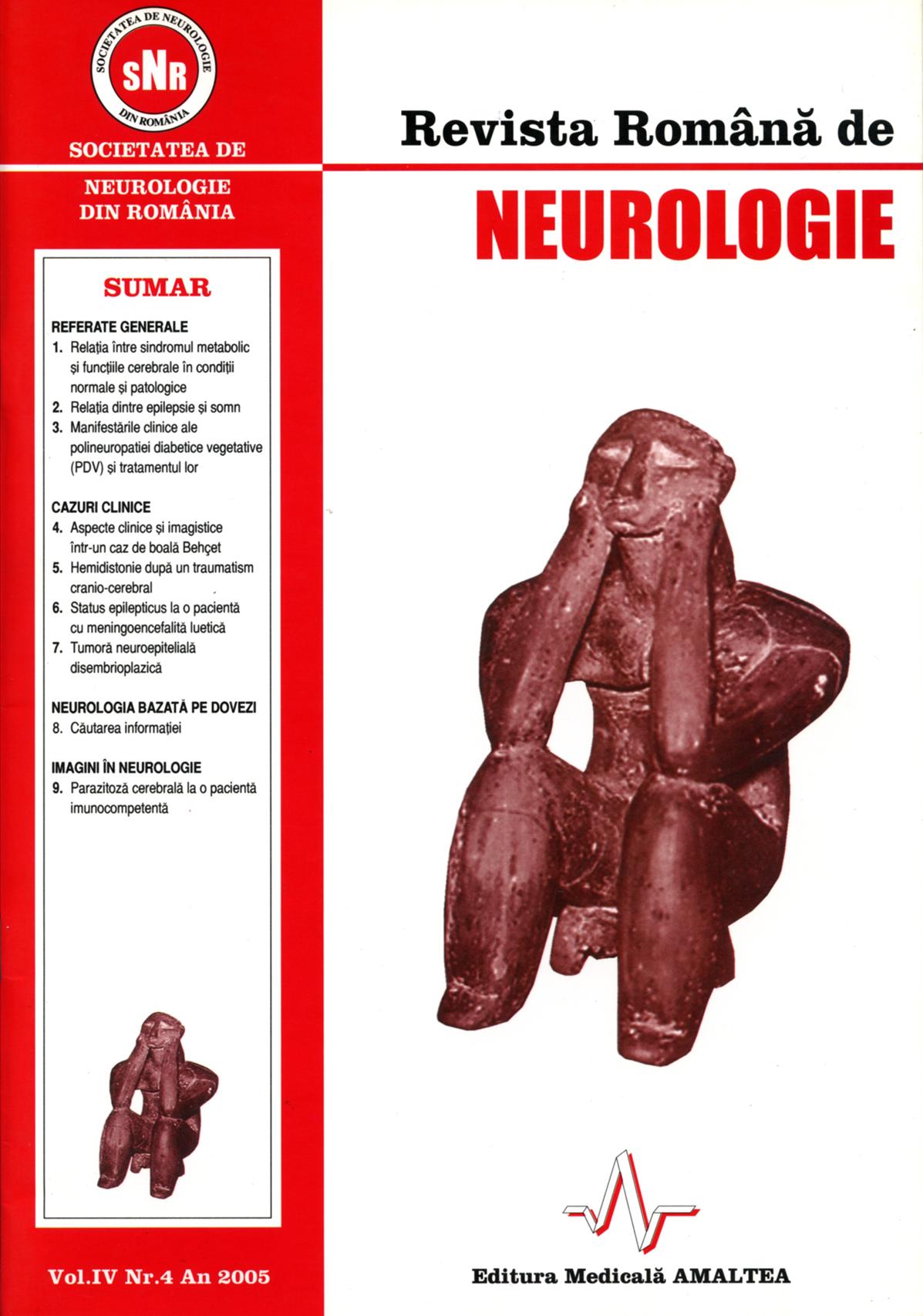 Romanian Journal of Neurology, Volume IV, No. 4, 2005