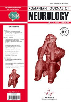 Romanian Journal of Neurology, Volume XV, No. 3, 2016