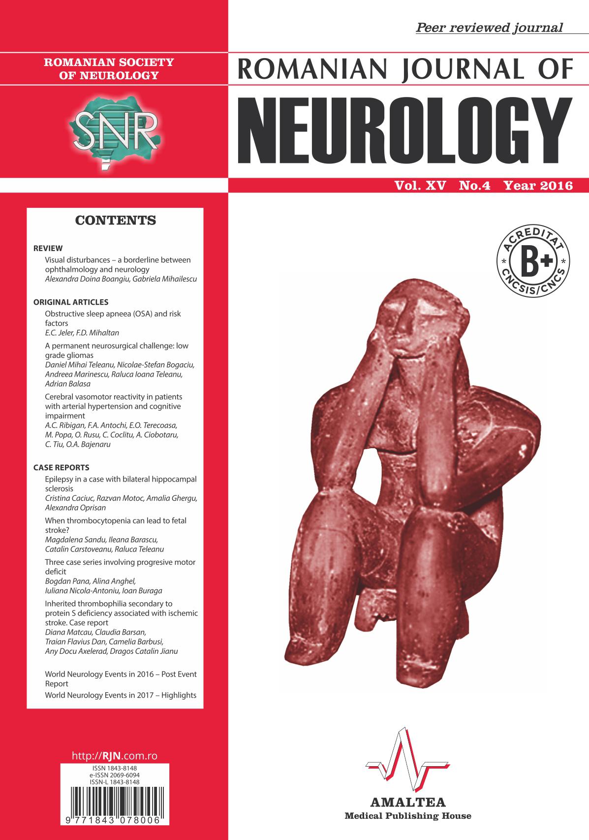 Romanian Journal of Neurology, Volume XV, No. 4, 2016