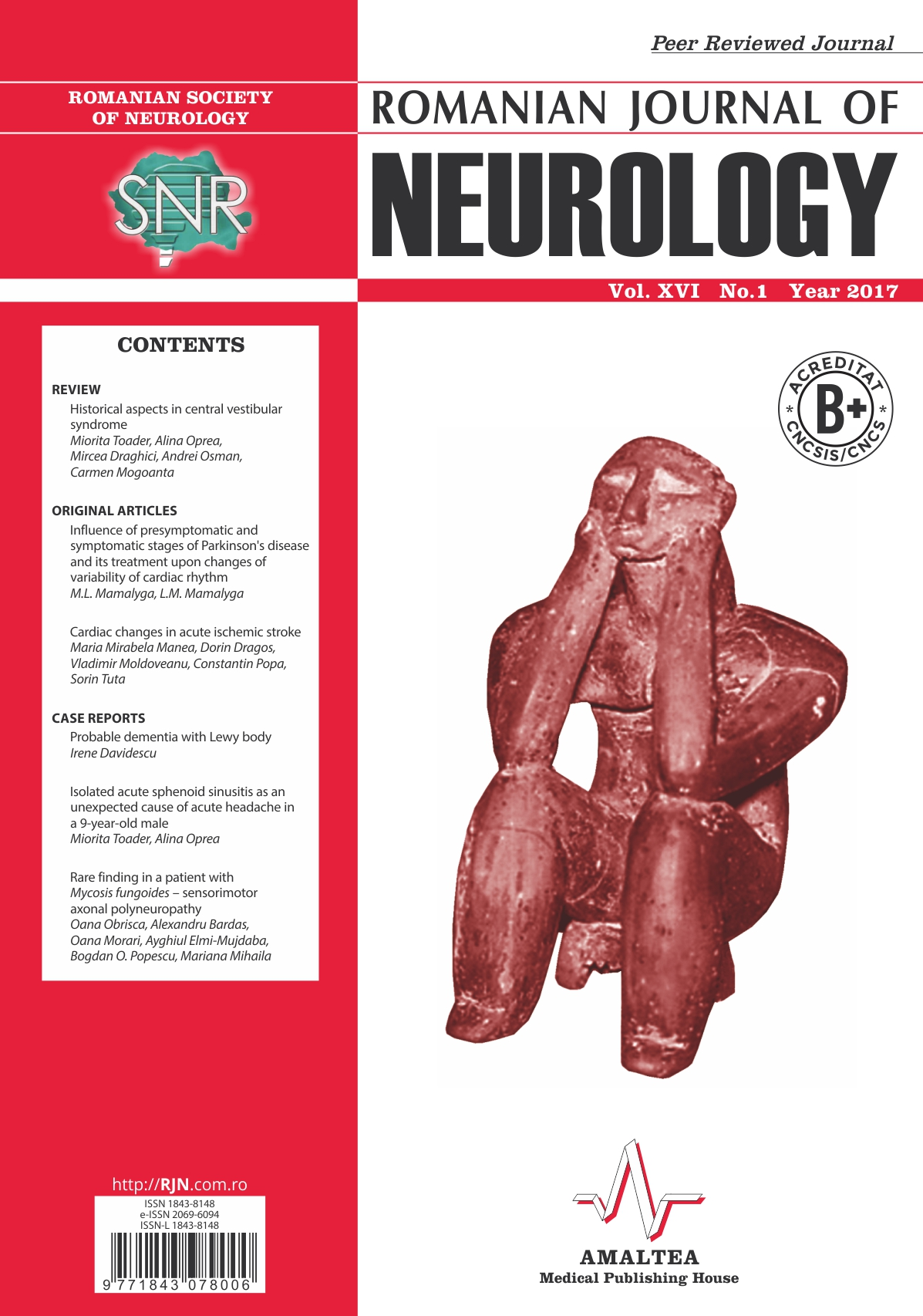 Romanian Journal of Neurology, Volume XVI, No. 1, 2017