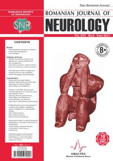 Romanian Journal of Neurology, Volume XVI, No. 3, 2017
