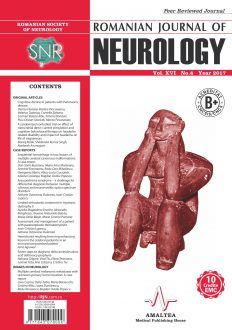 Romanian Journal of Neurology, Volume XVI, No. 4, 2017