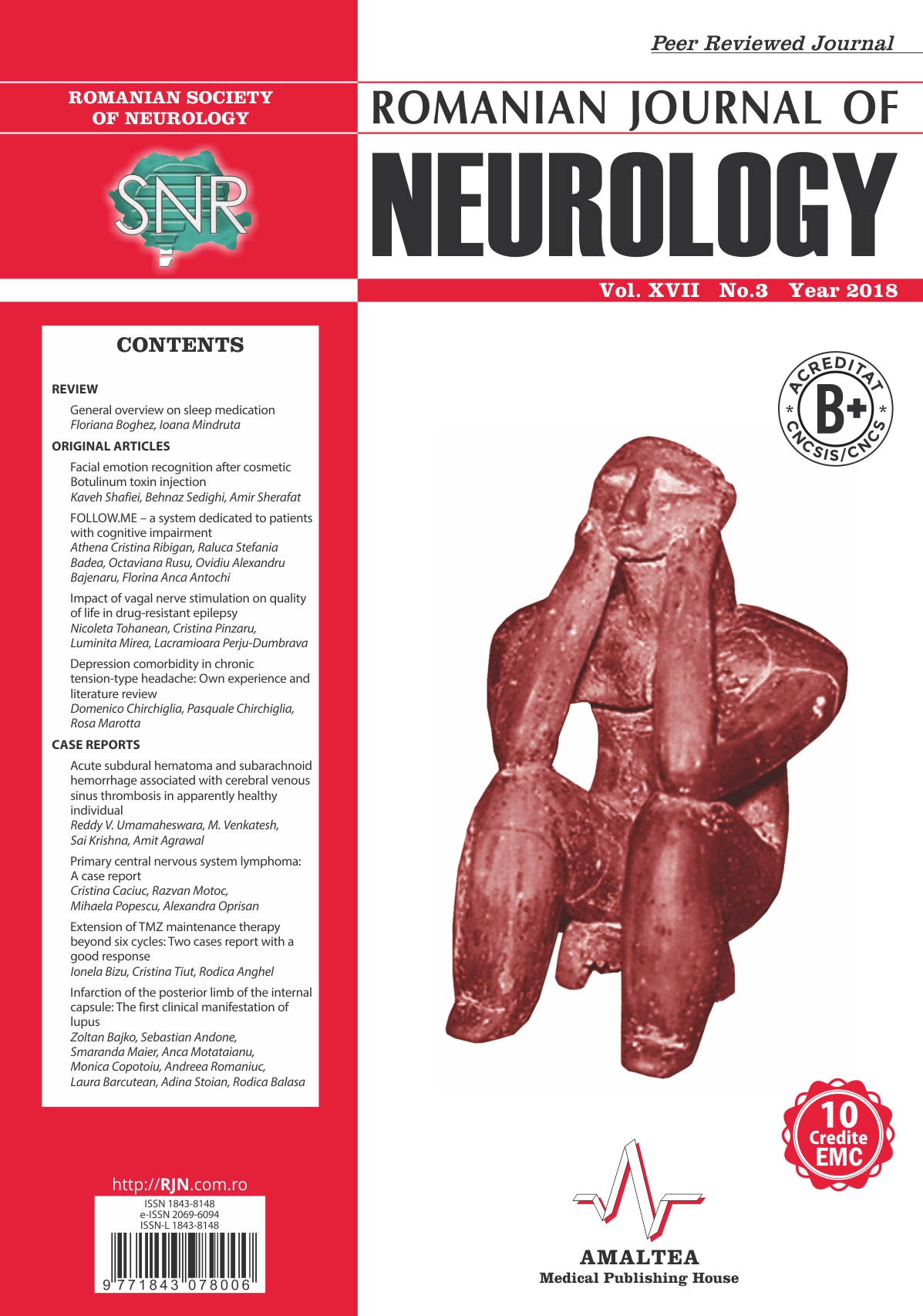Romanian Journal of Neurology, Volume XVII, No. 3, 2018