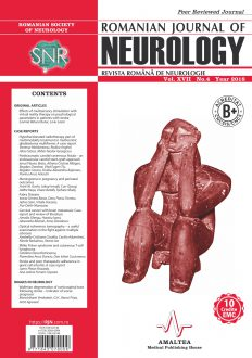 Romanian Journal of Neurology, Volume XVII, No. 4, 2018