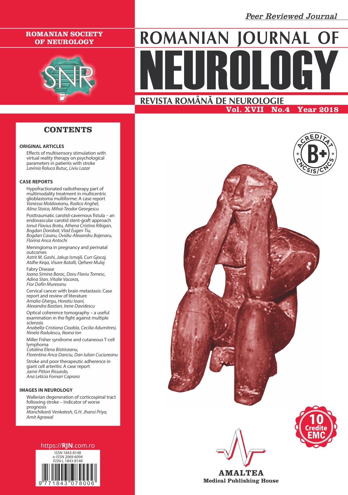 Romanian Journal of Neurology, Volume XVII, No. 4, 2018