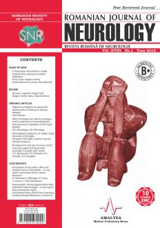 Romanian Journal of Neurology, Volume XVIII, No. 1, 2019
