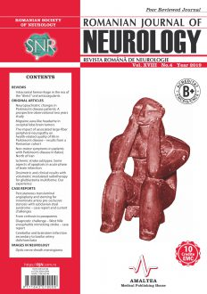 Romanian Journal of Neurology, Volume XVIII, No. 4, 2019