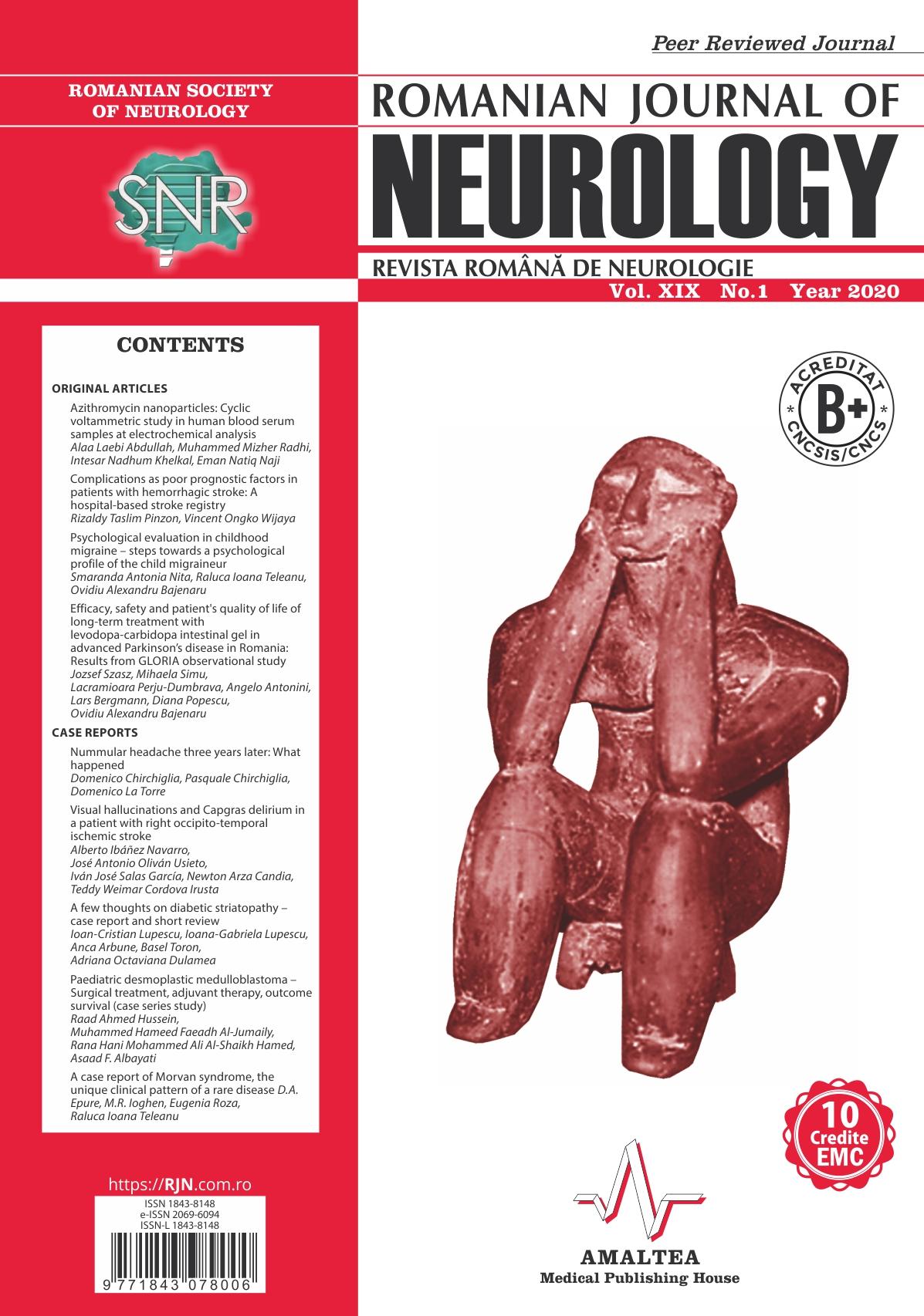 Romanian Journal of Neurology, Volume XIX, No. 1, 2020