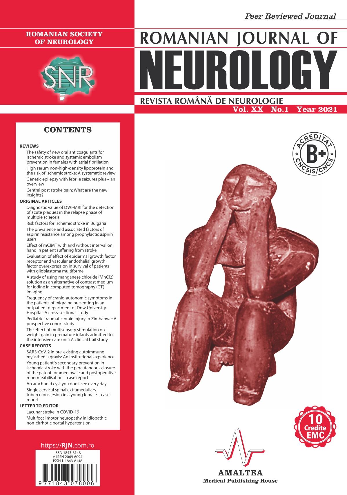 Romanian Journal of Neurology, Volume XX, No. 1, 2021