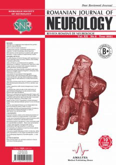 Romanian Journal of Neurology, Volume XX, No. 2, 2021